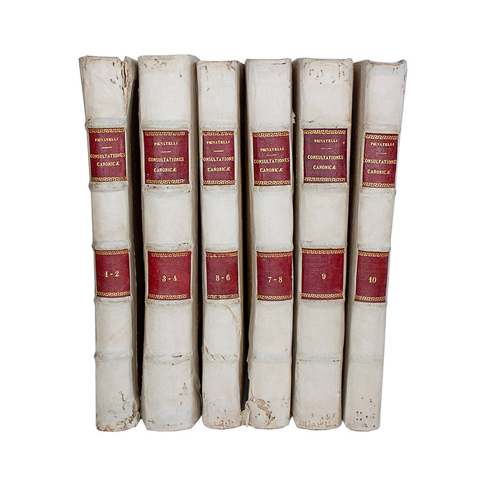 Vellum 6 Volume Book Set 1687