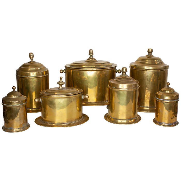 Set of 7 Antique Moroccan Canisters