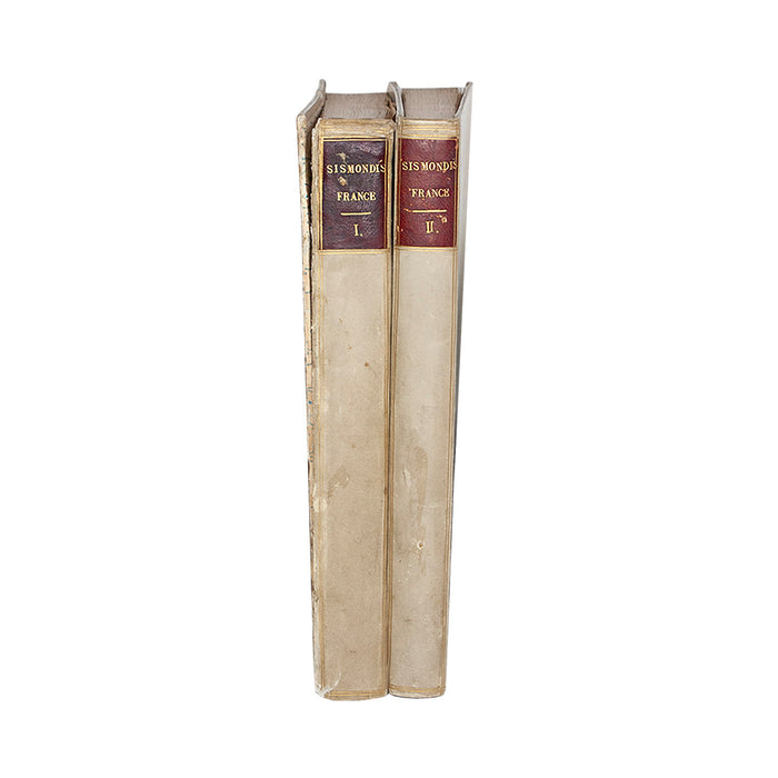 Vellum 2 Volume Book Set 1839