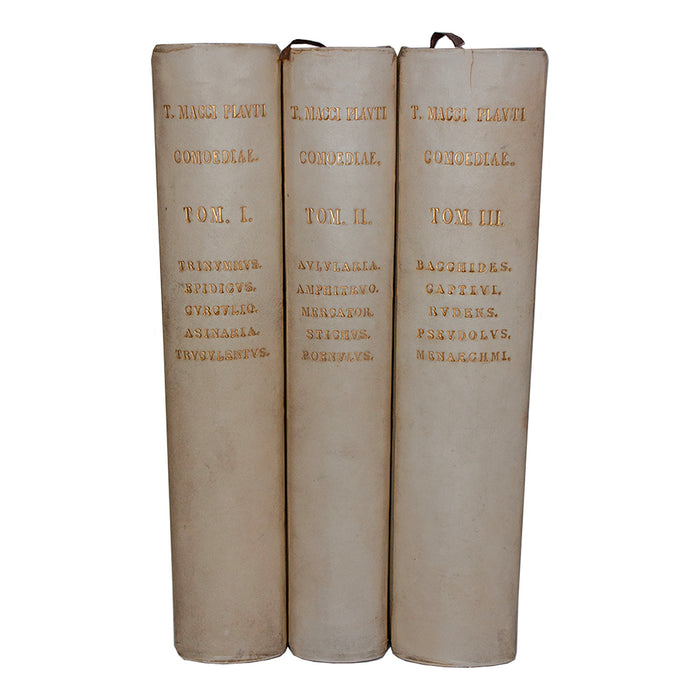 Vellum 3 Volume Book Set 1881-1886