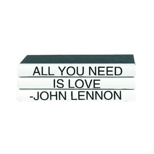John Lennon 3 Volume Quote Book Stack