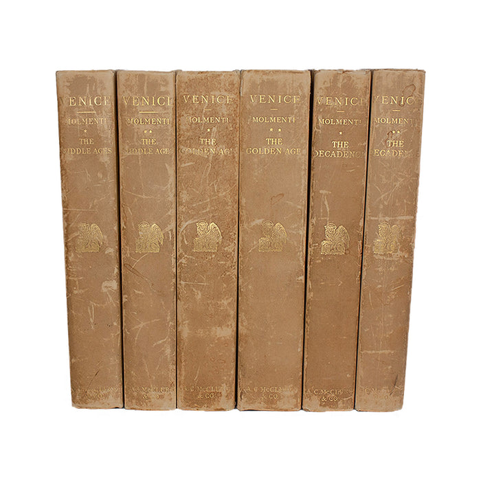 Vellum 6 Volume Book Set 1908