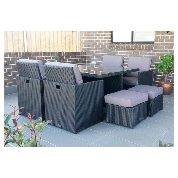 CUBE 4 - 9 PIECE OUTDOOR DINING SETTING