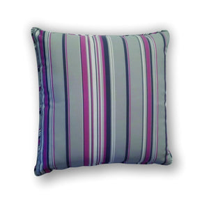 Cushion -  Blue, pink and gray stripes