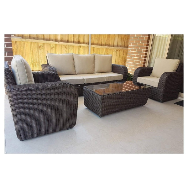BURWOOD - 4 Piece LOUNGE SETTING - The Wicker Man - 4