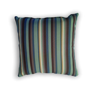 Cushion - Green, brown and beige stripes