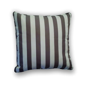 Cushion -  Beige and brown striped