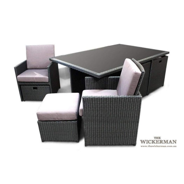 CUBE 6 - OUTDOOR DINING SETTING - The Wicker Man - 22