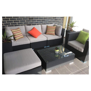 MODERN 6 - OUTDOOR ALUMINIUM BASE LOUNGE - The Wicker Man - 4