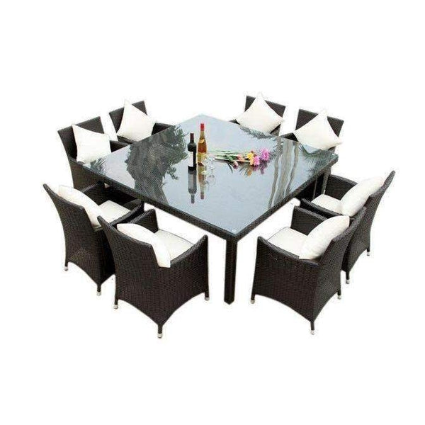 MARZIO 8  - 9 PIECE OUTDOOR DINING SETTING - The Wicker Man - 3