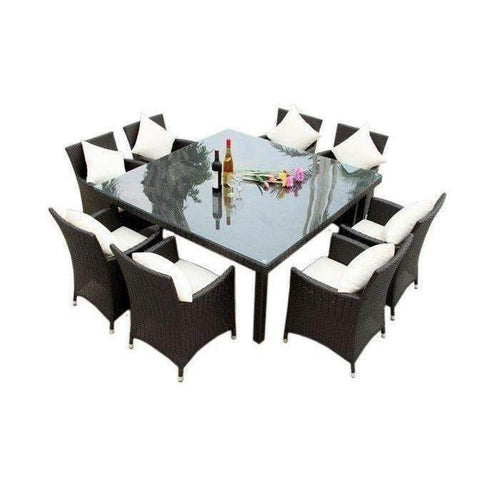 ... MARZIO 8   9 PIECE OUTDOOR DINING SETTING   The Wicker Man   3 Part 40