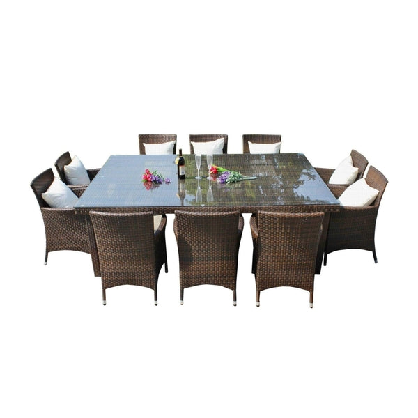 ... MARZIO 10   11 PIECE OUTDOOR DINING SETTING   The Wicker Man   ...