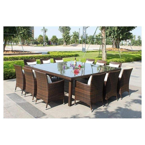 MARZIO 12  - 13 PIECE OUTDOOR DINING SETTING