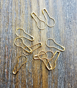 Gold tone Removable Stitch Markers