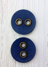 Simulated Leather round buttons
