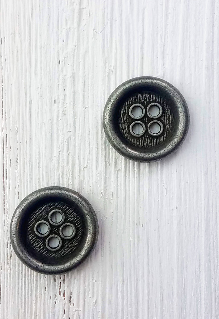 Metal round button