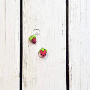 Strawberry Stitch Markers/Progress Keepers