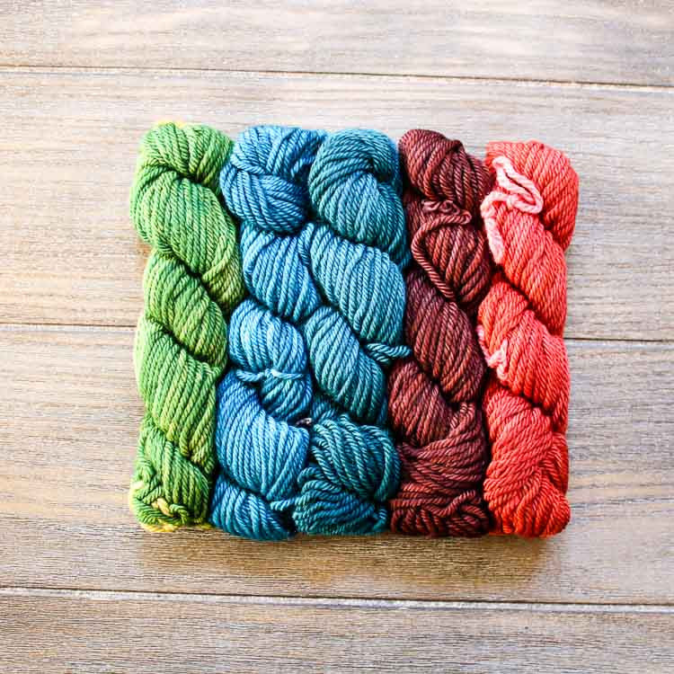 Wonderland Yarns March Hare Mini Skein Pack