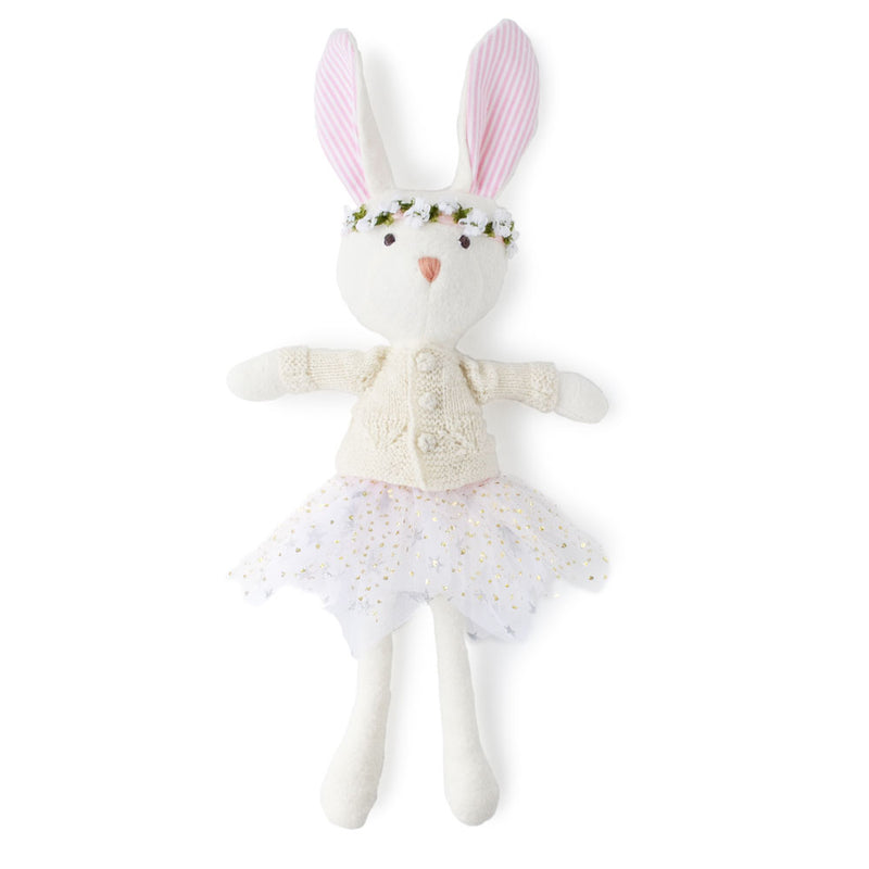 Penelope Rabbit in Ivory Cardigan, Flower Crown and TuTu