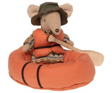 Hiking Mouse in Rubber Boat