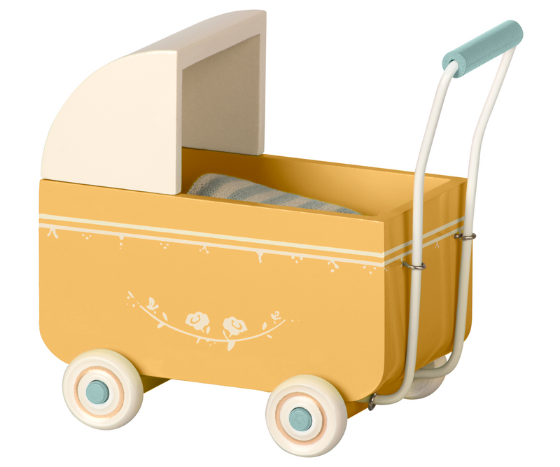Maileg Mini Yellow Pram