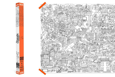The Big Apple, Really Big Coloring Poster