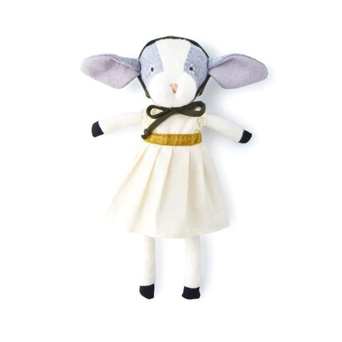 Hazel Village Ivy Goat in Muslin Dress and Bonnet
