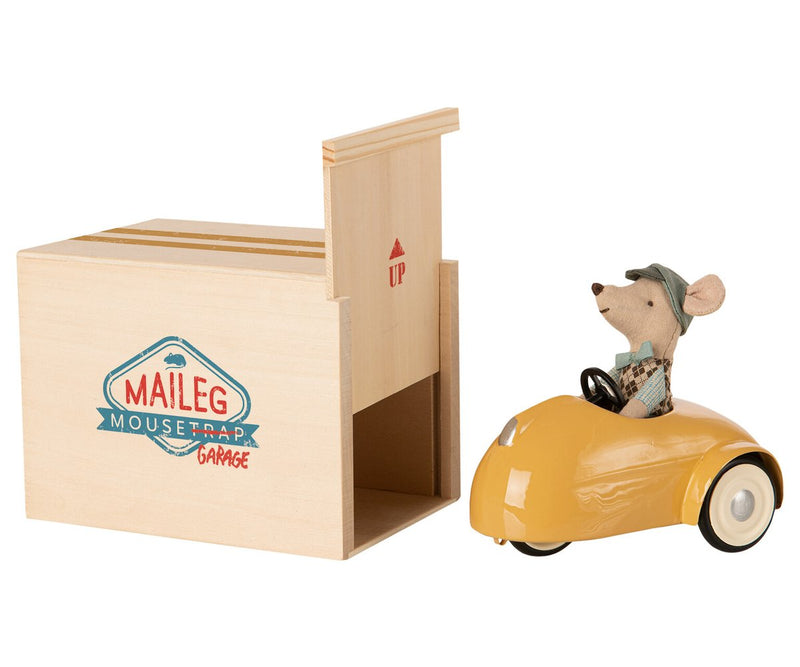 Maileg Mouse With Car Garage (Multiple Colors)