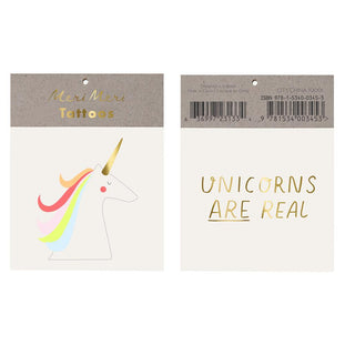 "Meri Meri ""Unicorns Are Real"" Tattoos"