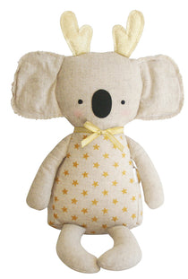 Alimrose Christmas Koala with Gold Stars