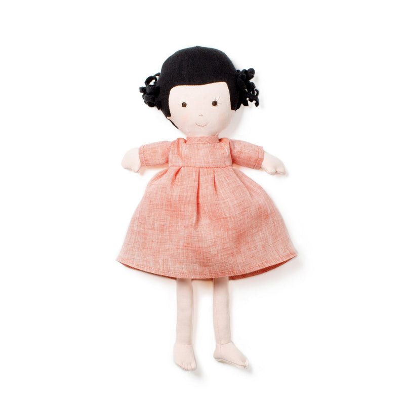 Hazel Village Nell in Coral Linen Dress