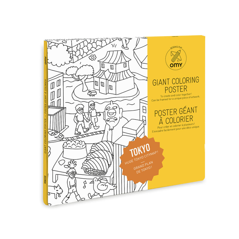 Omy Tokyo Coloring Poster