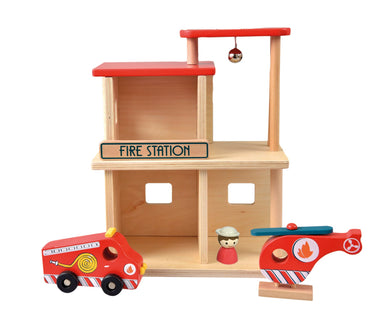 Egmont Toys Wooden Fire Station