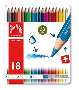 Caran d'Ache Watercolor Pencils (18 Assorted Colors)