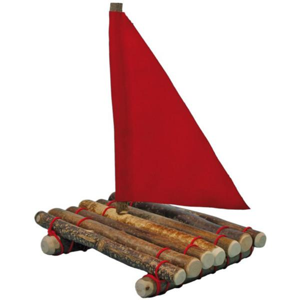 Natural Branch Raft with Sail