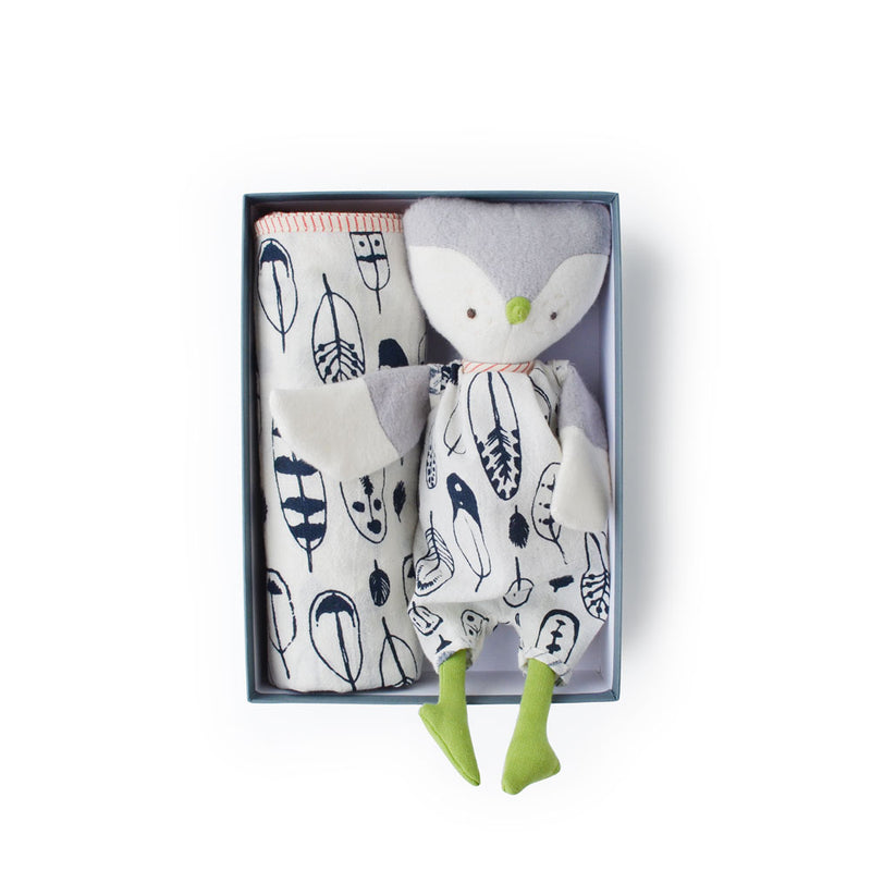 Hazel Village Jeremy Owl and Feather Swaddle Bundle