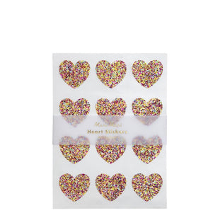 Glitter Heart Sticker Sheets