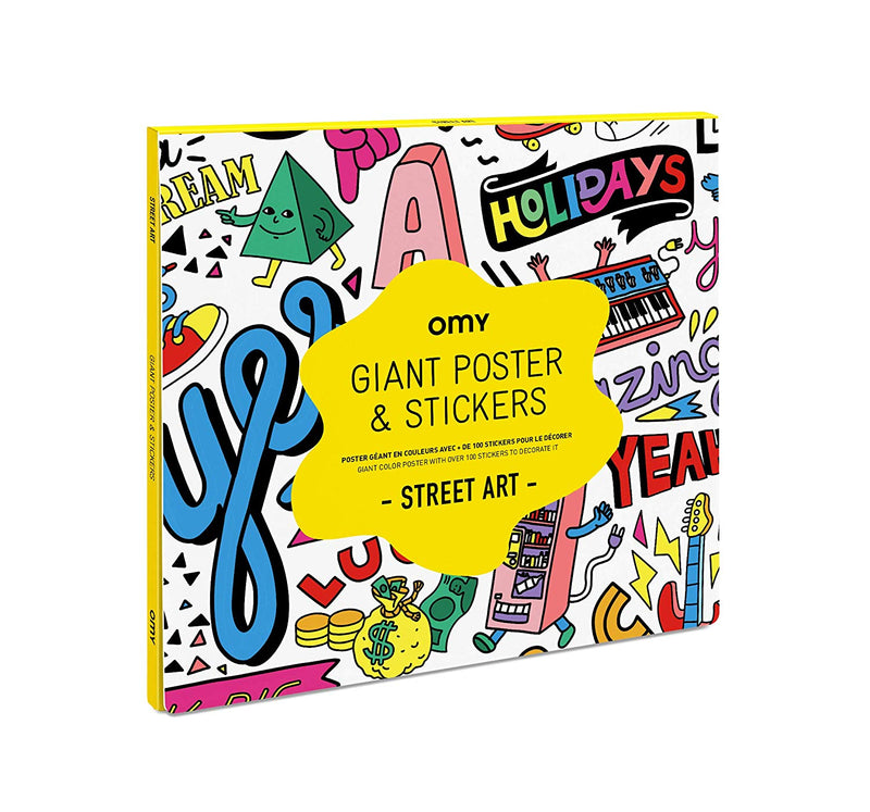 Omy Giant Coloring Poster Street Art