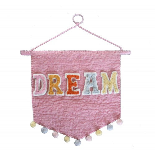Pastel 'DREAM' Wall Pennant