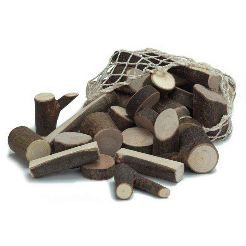 Natural Wood Branch Building Blocks