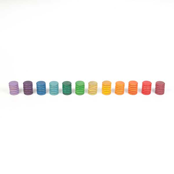 Grapat Set of 72 Coins in 12 Colors