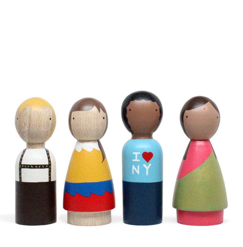 The Children of the World Peg Dolls