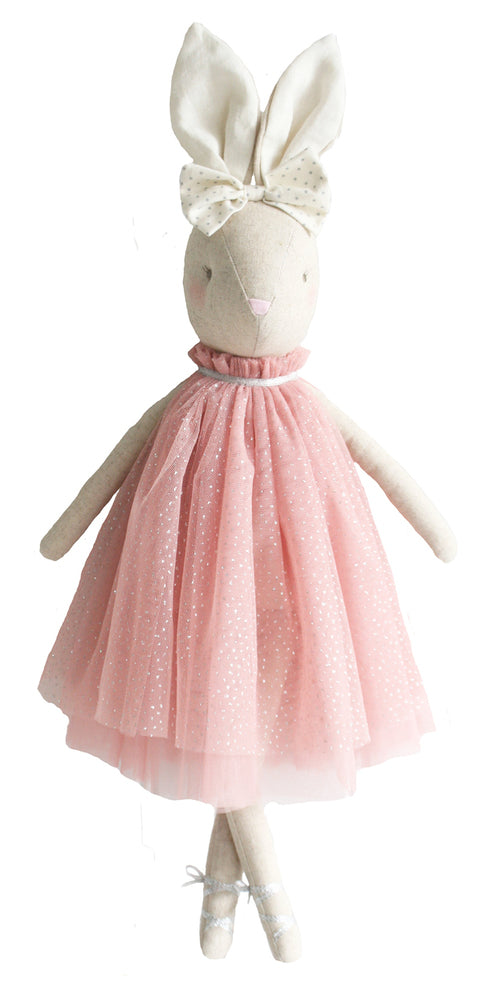 Alimrose Daisy Bunny in Pink Sparkle Dress