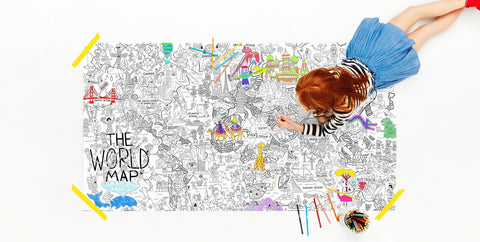 What a Colorful World Really Big Coloring Poster