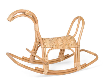Poppie Child-Sized Ratan Rocking Horse