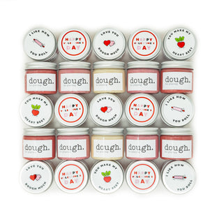 The Dough Project Class Valentine Mini Dough Jars