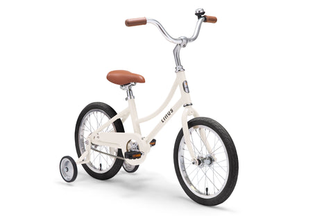 "Linus Lil Dutchi 16"" Bike with Training Wheels in Cream"