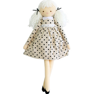 Pippa Doll in Black Spot Dress