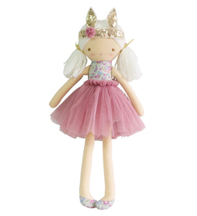 Sienna Bunny Crown Doll Grey Blush