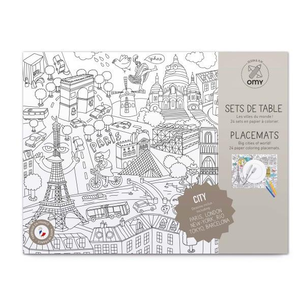 OMY City Coloring Placemats